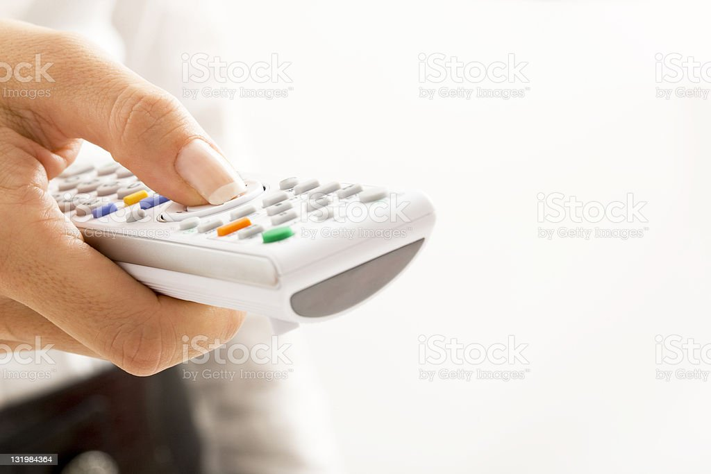 Changing Channels royalty-free stock photo