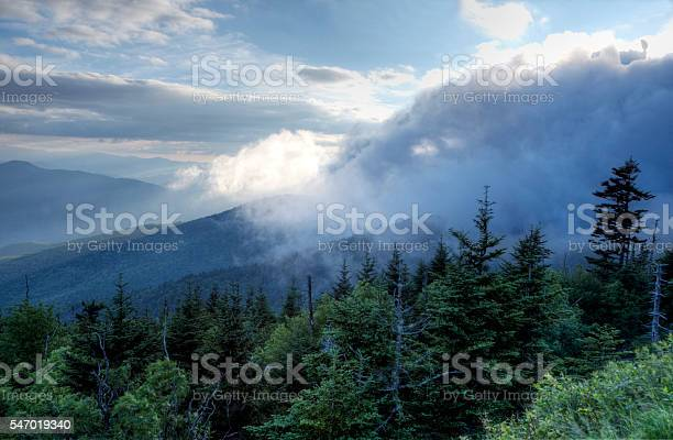 Photo of Changing cloudscape in the Great Smoky Mounains.