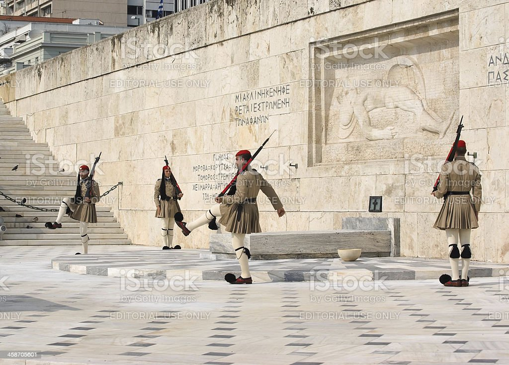 Changing Guard In Athens stock photo