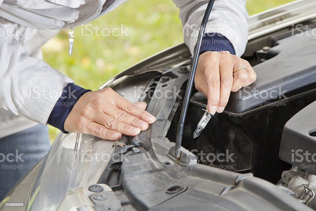 Changing halogen bulb royalty-free stock photo