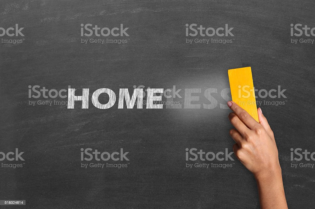 Changing Homeless to Home stock photo