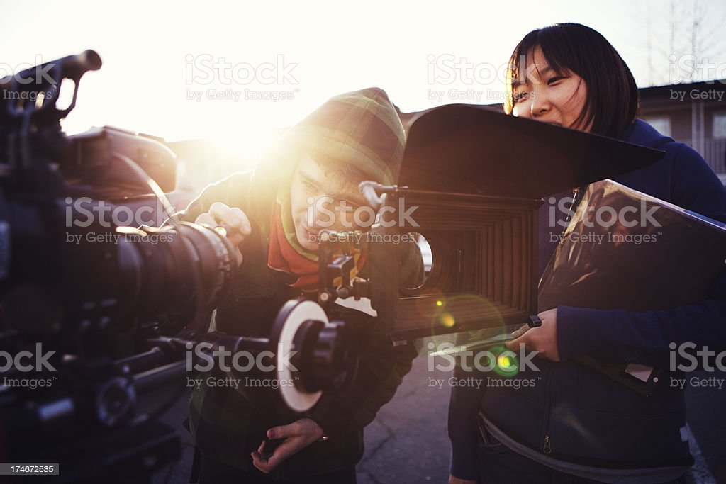 Changing Lenses stock photo