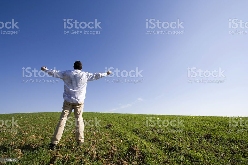 Changing life to be a farmer royalty-free stock photo
