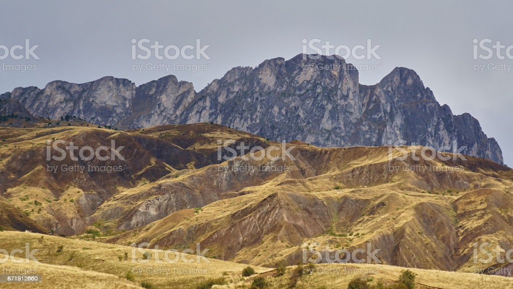 Changing light in the Pyrénées stock photo