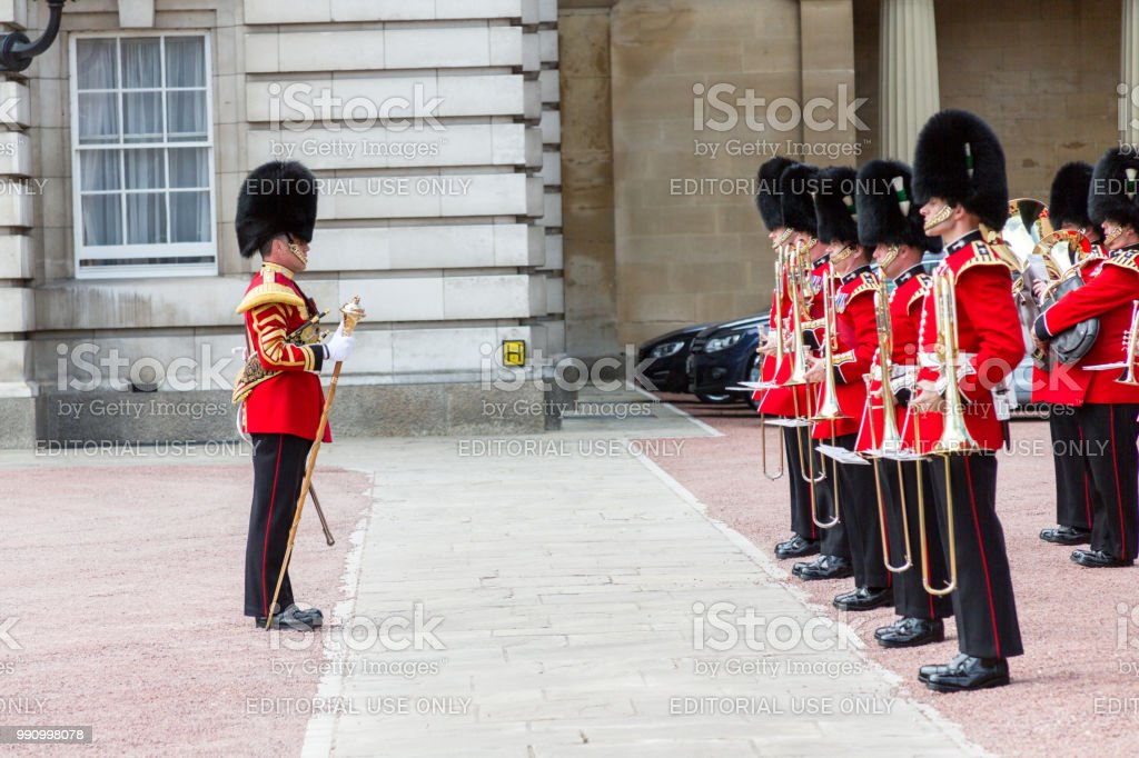 Changing of the Guard at Buckingham Palace stock photo