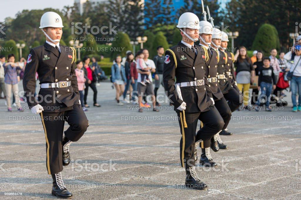 Changing of the guard ceremony - Zbiór zdjęć royalty-free (Armia)