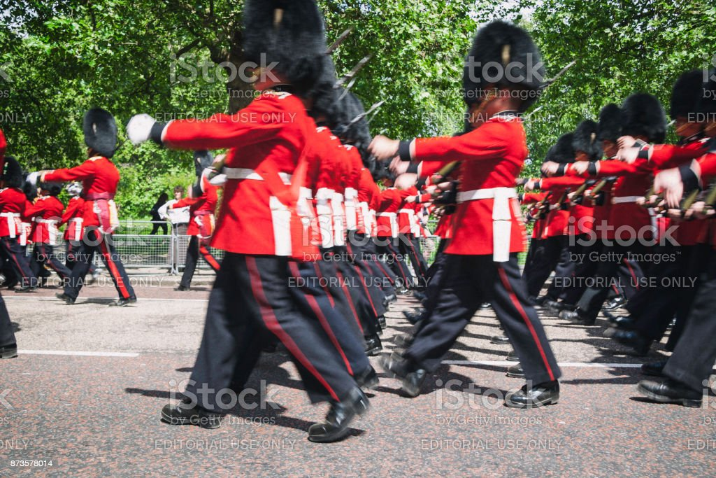 Changing Of The Guard In London stock photo