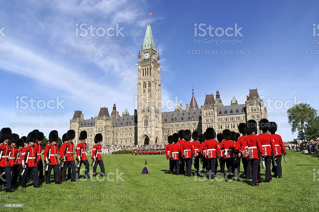 Changing of the guard in Ottawa, Canada royalty-free stock photo