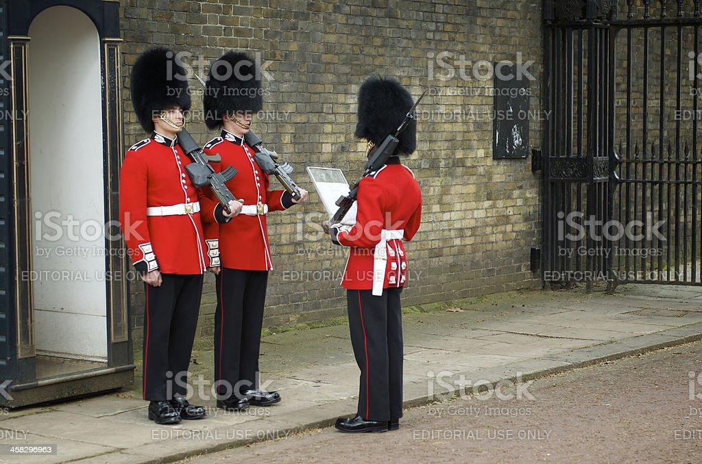 Changing of The Guard Pall Mall London stock photo