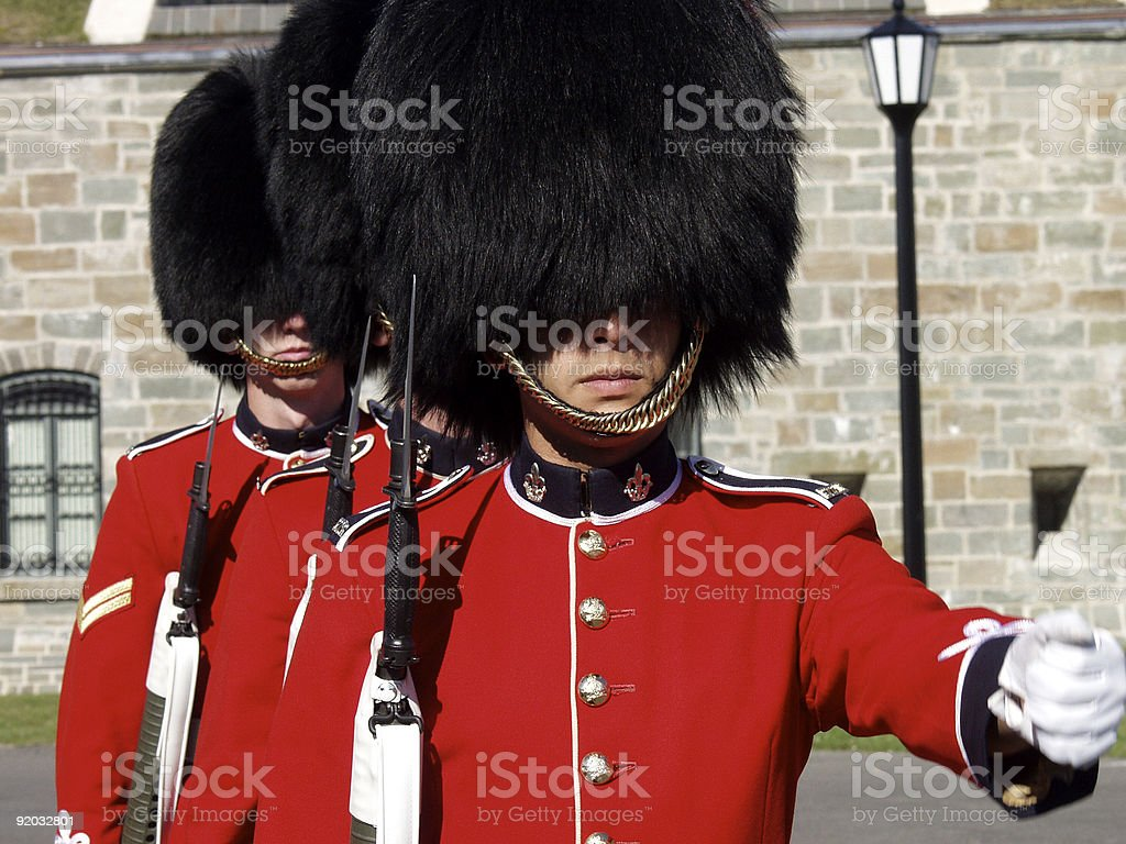 Changing of the guards in London stock photo