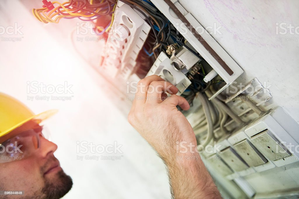 Changing old fuse royalty-free stock photo