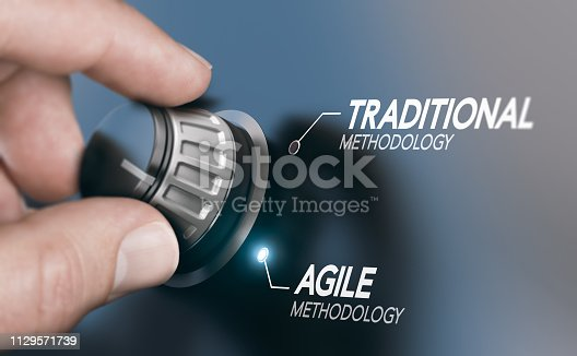 istock Changing Project Management Methodology From Traditional to Agile PM 1129571739