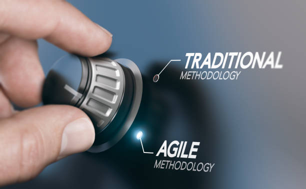 Changing Project Management Methodology From Traditional to Agile PM stock photo