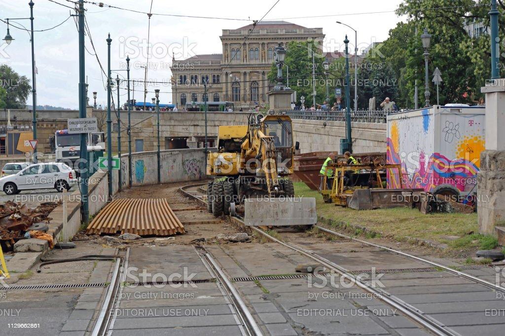 Changing Rails Budapest stock photo