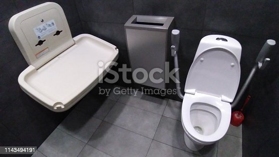 changing table in the toilet for general use