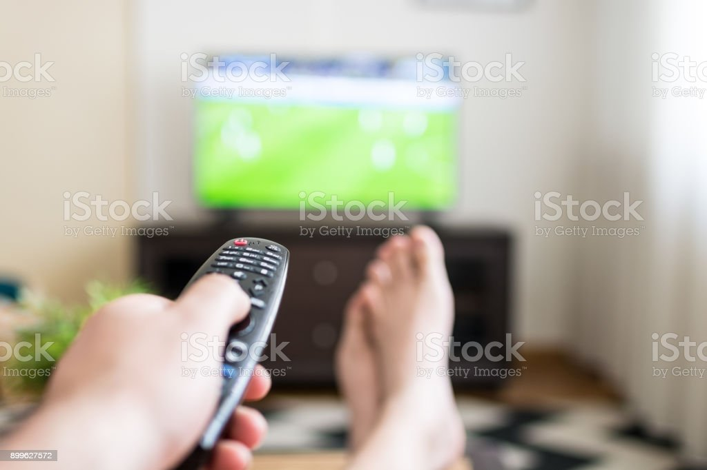 Changing the channel stock photo