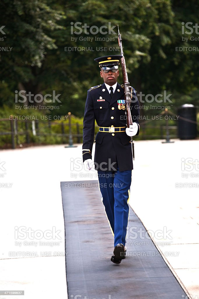 changing the guard  in Arlington royalty-free stock photo