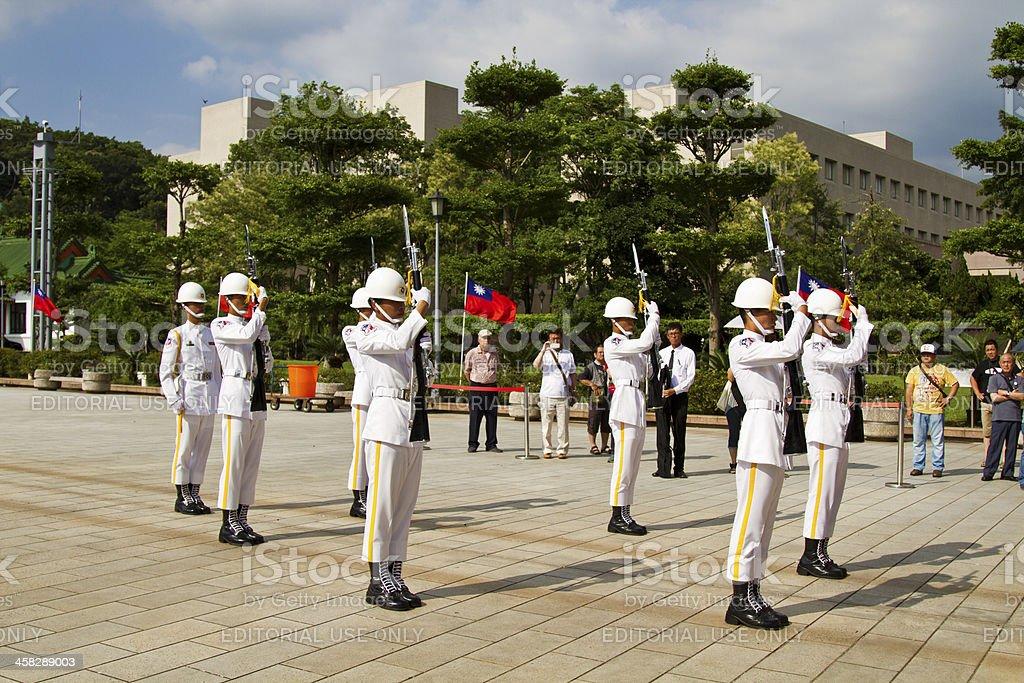 changing the guard,Taipei,Taiwan royalty-free stock photo