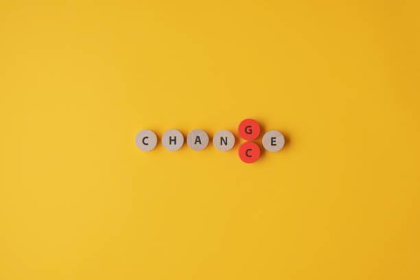 Das Wort Change in Chance ändern – Foto