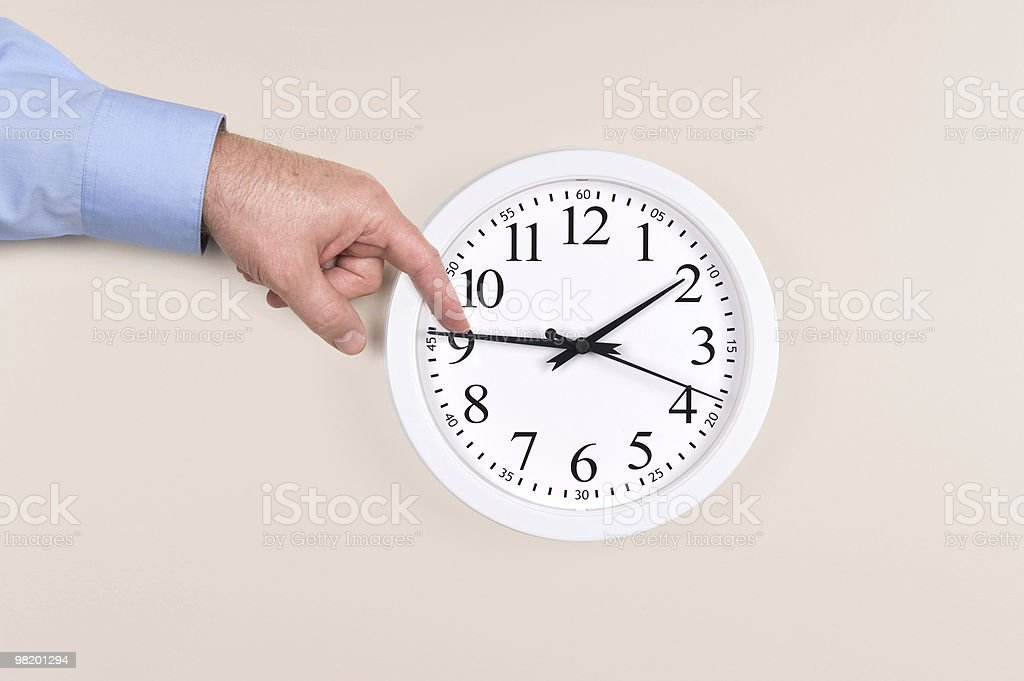 Changing time for daylight savings stock photo