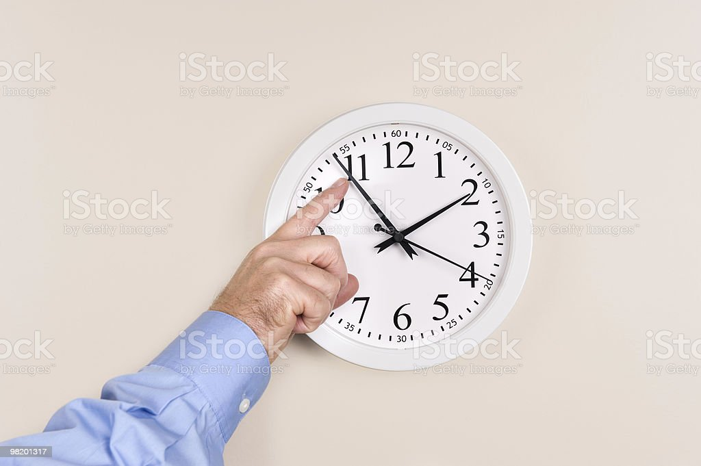 Changing time royalty-free stock photo