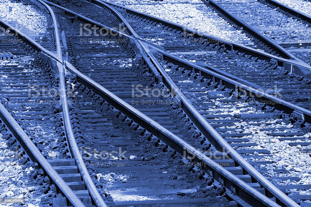 Changing Track royalty-free stock photo
