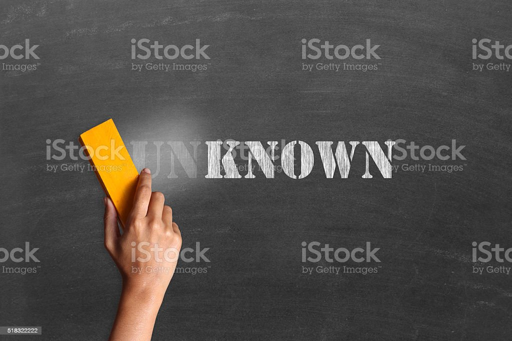 Changing unknow to known stock photo