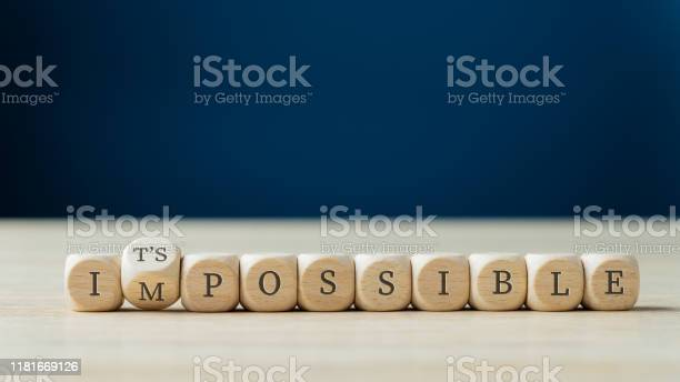 Changing Word Impossible Into Its Possible Stock Photo - Download Image Now