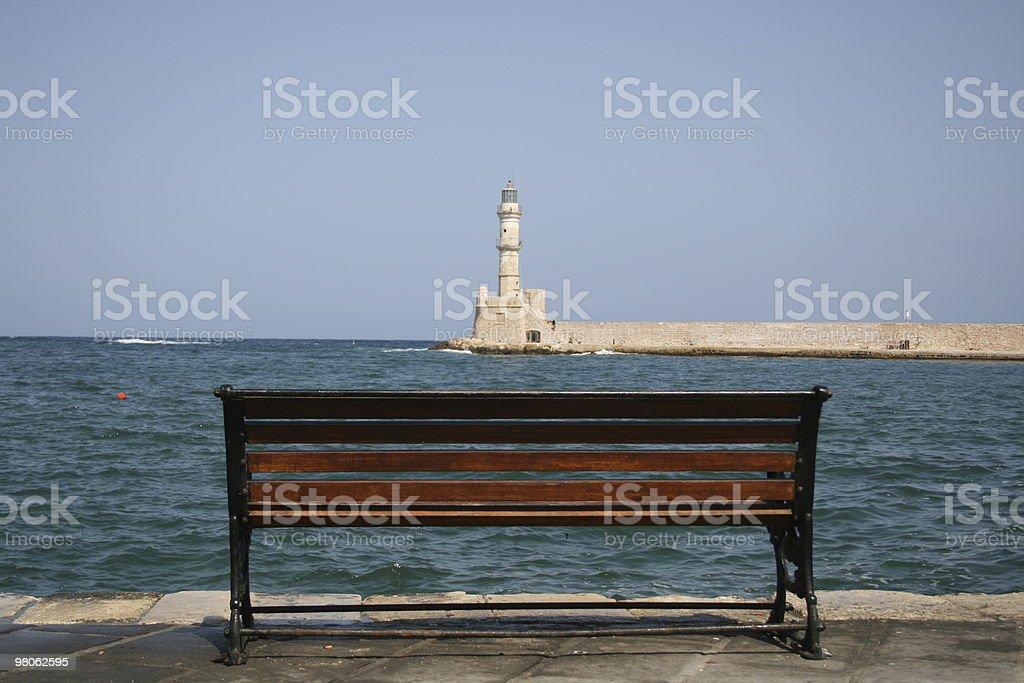 Chania Sea Watching royalty-free stock photo