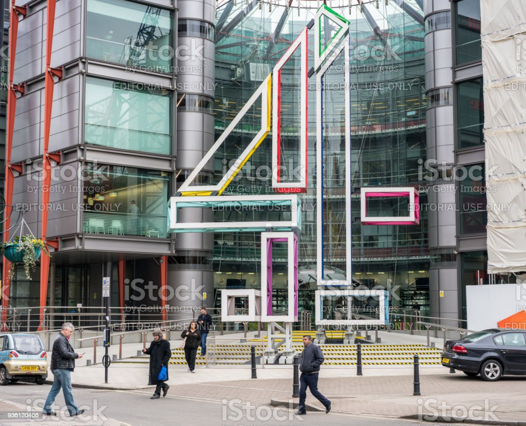Channel 4 Headquarters in Westminster, London stock photo
