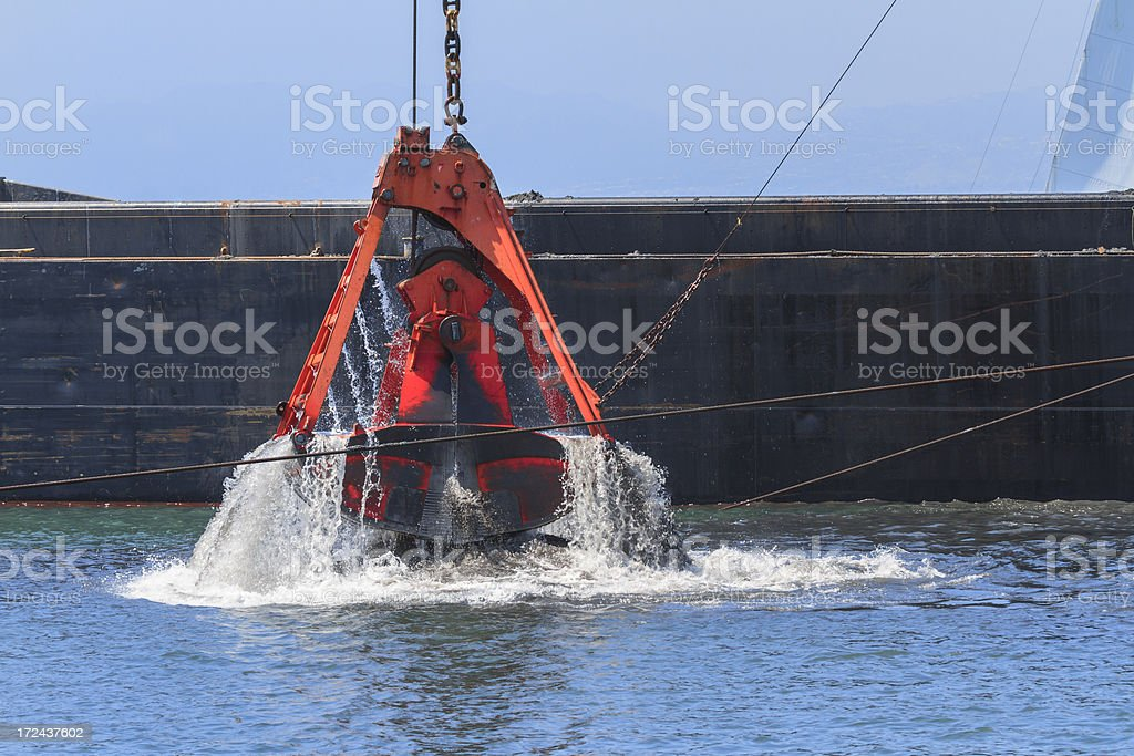 Channel Dredging In California royalty-free stock photo