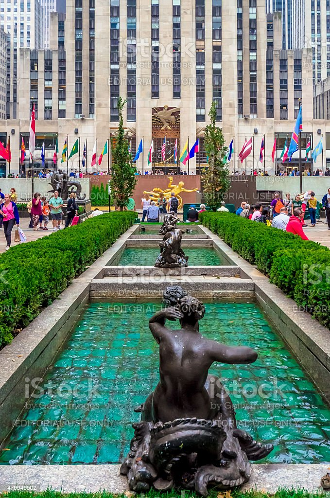 Avant Garden Freenyc Graphic Design Defined By: Channel Gardens Rockefeller Center New York City Stock