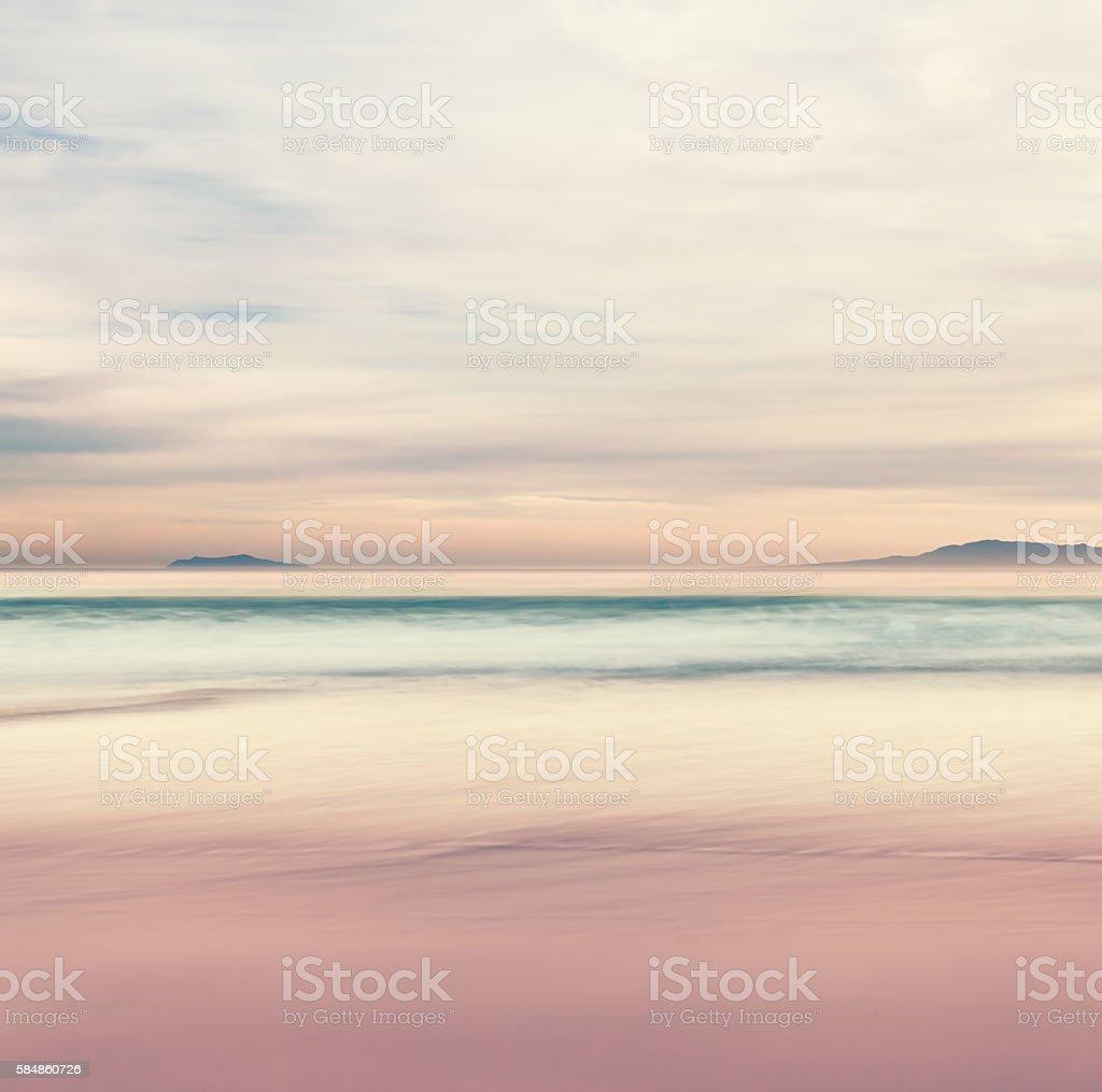 Channel Island Sunset stock photo