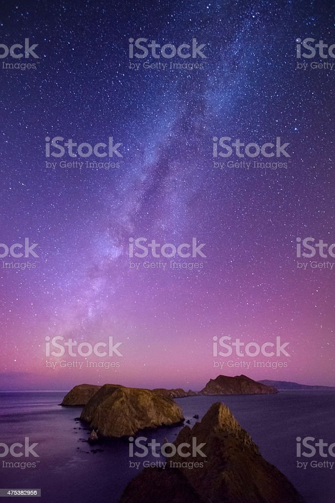 Channel Islands at Night stock photo