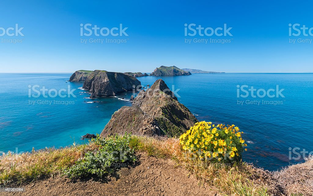 Channel Islands National Park Landscape, California stock photo