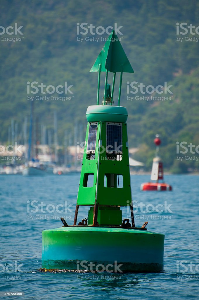 Channel Marker Buoy stock photo