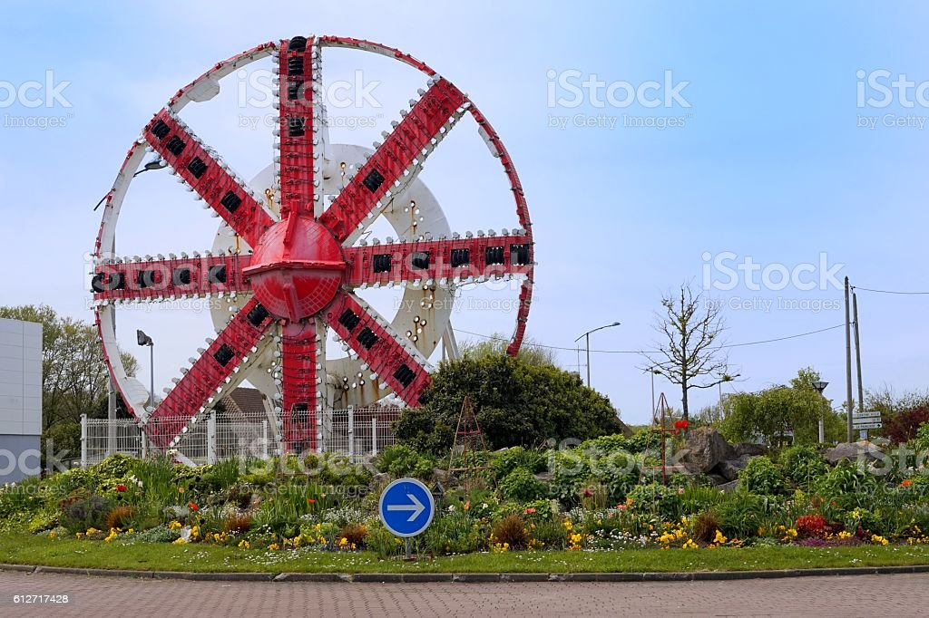 Channel Tunnel Drill Mechanism on display in Coquelles, Calais, France stock photo