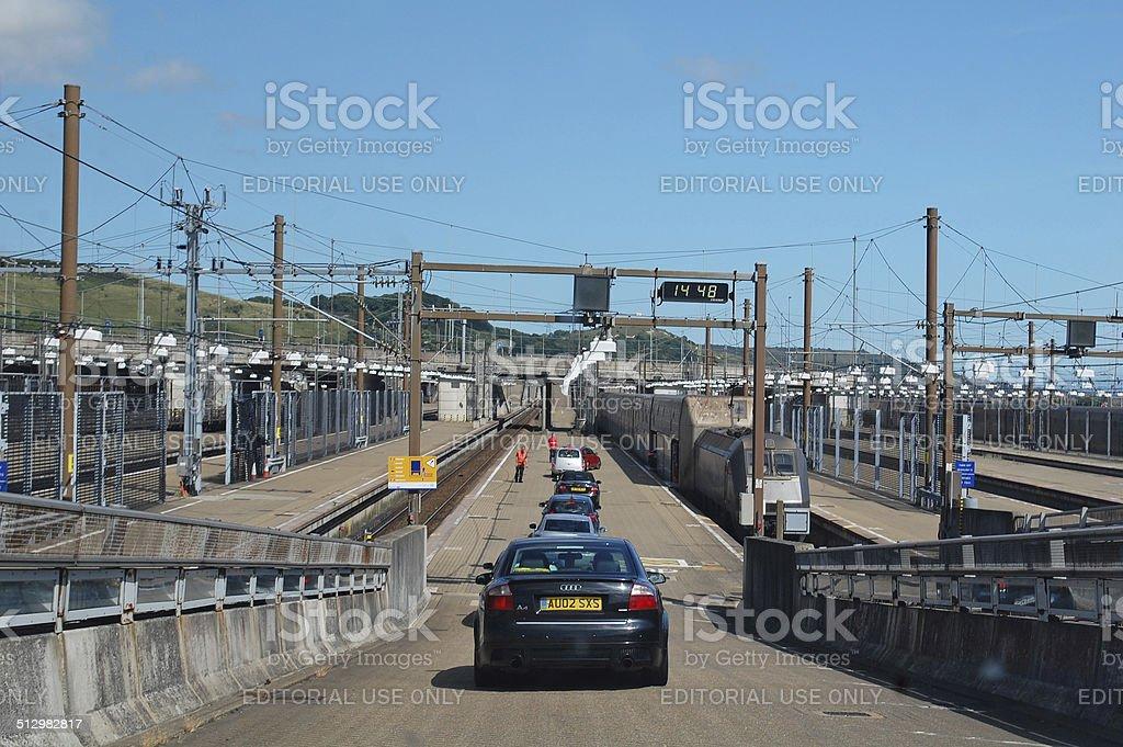 Channel tunnel Folkestone stock photo