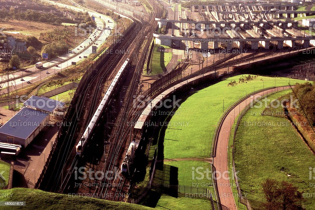 channel tunnel stock photo