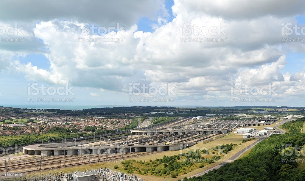 Channel Tunnel terminal at Folkestone, Kent, UK royalty-free stock photo