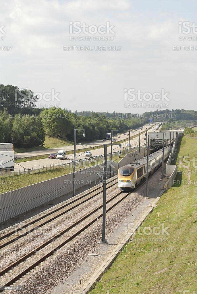 Channel Tunnel Train stock photo