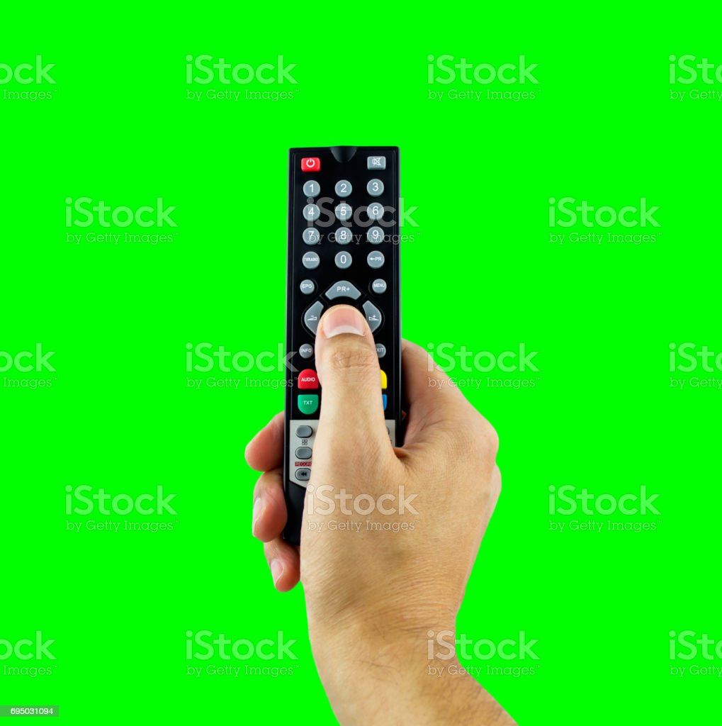 channel zapping with chrome key stock photo