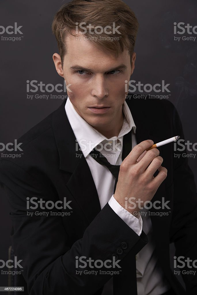 Channeling James Bond royalty-free stock photo