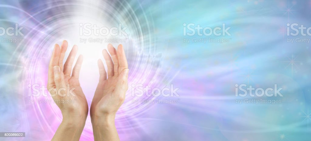Channeling Vortex healing energy stock photo