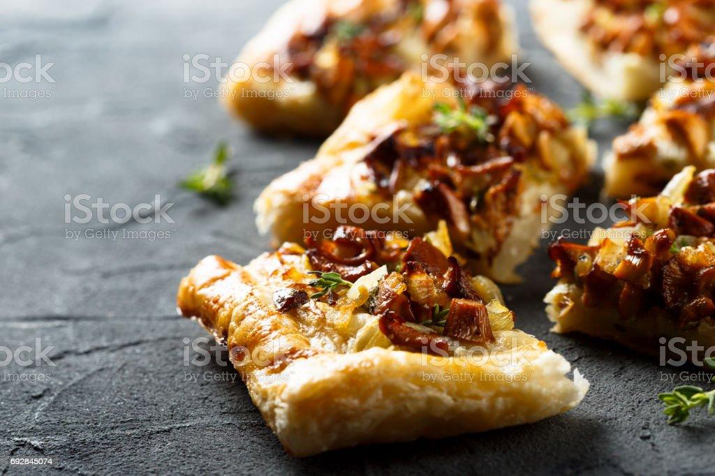 Chanterelle pies - foto stock