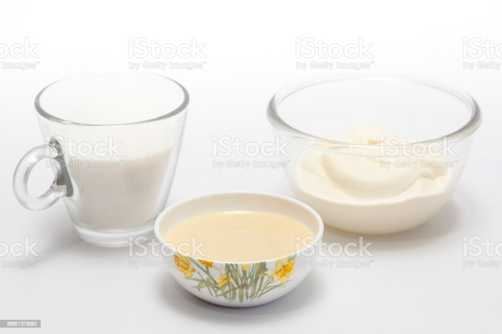 Chantilly cream ingredients foto stock royalty-free