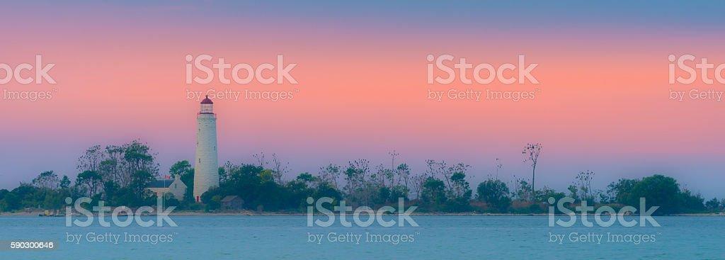Chantry Island Lighthouse royaltyfri bildbanksbilder