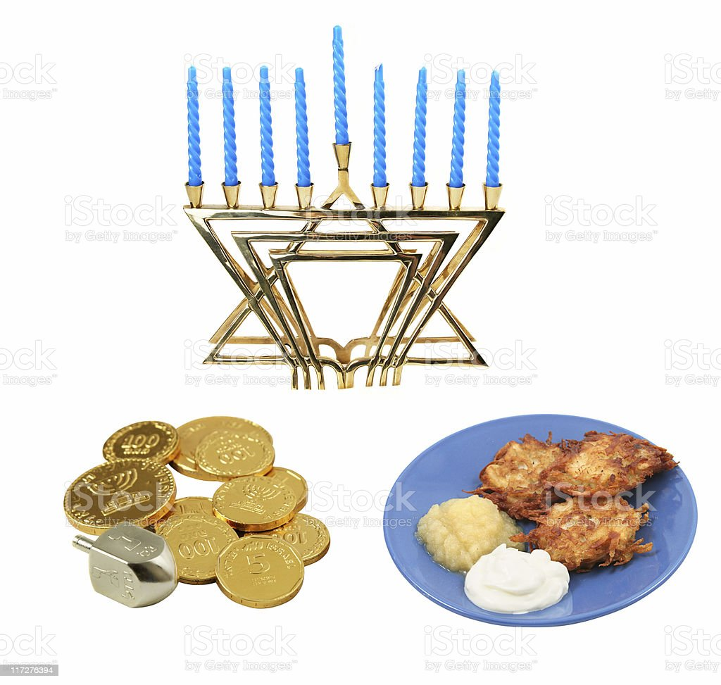 Chanukah Design Elements stock photo
