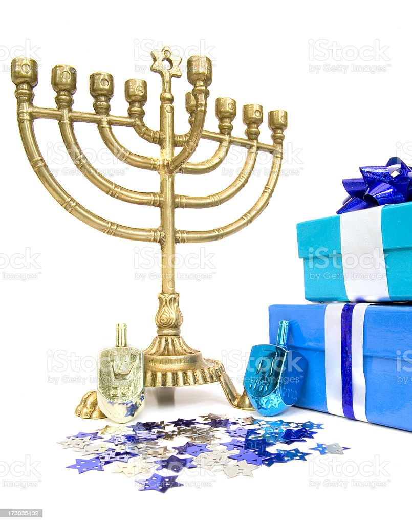 Chanukah Still Life stock photo