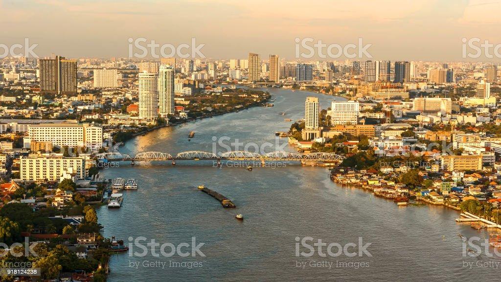 Chao Phraya River. stock photo